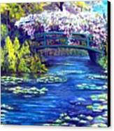 Waterlilly Bridge Canvas Print