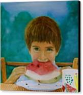 Watermelon Time Canvas Print by Bruce Ben Pope