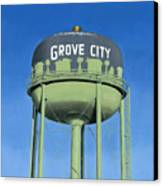 Watertower Grove City Canvas Print