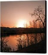 Watson Lake At Sunset Canvas Print