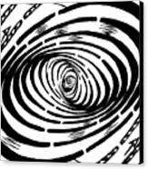 Wave Swirl Maze Canvas Print
