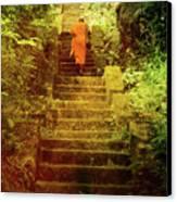 Way To Buddha's Temple Canvas Print