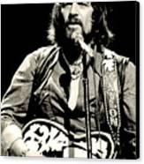 Waylon Jennings In Concert, C. 1976 Canvas Print by Everett