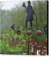 Weather Vane In The Rain Canvas Print
