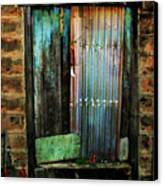 Weatherd Entry Canvas Print by Perry Webster
