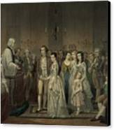 Wedding Of George Washington And Martha Canvas Print by Everett