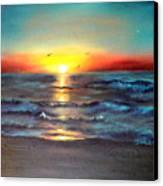 Wedding Sunrise On Indian Harbour Beach Florida Canvas Print