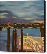 Weehawken From Pier 78 Canvas Print by Milagros Palmieri