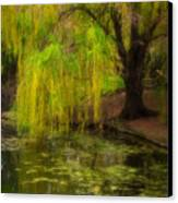 Weeping Pond Canvas Print by Fred Lassmann