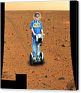 Welcom To Mars Canvas Print by Larry Mulvehill