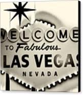 Welcome To Fabulous Las Vegas Nevada Canvas Print by Leslie Leda