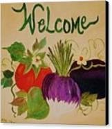 Welcome To My Kitchen Canvas Print by Alanna Hug-McAnnally