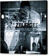 Welcome To Salzburg Canvas Print by Dave Bowman