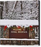 Welcome To Signal Mountain Canvas Print by Tom and Pat Cory