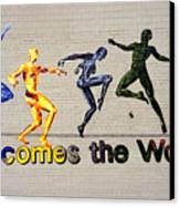 Welcomes The World Mural Canvas Print