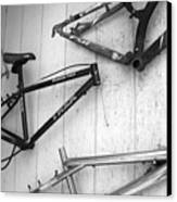 Well Worn Mountain Bike Frames  Canvas Print by Gray  Artus