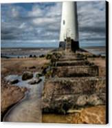 Welsh Lighthouse  Canvas Print by Adrian Evans