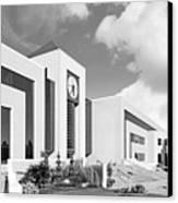 Western Michigan University Stewart Clocktower And Waldow Library Canvas Print by University Icons