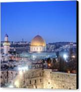 Western Wall And Dome Of The Rock Canvas Print