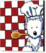 Westie Chef Canvas Print by Kim Niles