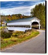 Westport Covered Bridge Canvas Print by Jack R Perry