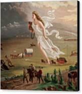 Westward Ho Allegorical Female Figure Canvas Print