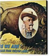 W.f.cody Poster, 1908 Canvas Print
