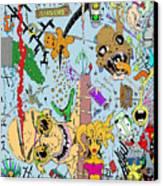 What A Mess Color Canvas Print by Jack Norton