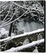 Whatcom Falls Winter 08 Canvas Print by Craig Perry-Ollila