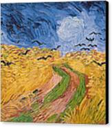 Wheatfield With Crows Canvas Print by Vincent van Gogh