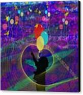When Balloons Become Stars Canvas Print