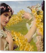 When Flowers Return Canvas Print by Sir Lawrence Alma-Tadema