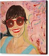 When Irene Smiles Canvas Print