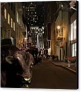 When The Lights Go Down In The City Canvas Print by Wingsdomain Art and Photography