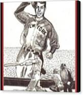 Where Have You Gone Joe Dimaggio  Canvas Print by Ray Tapajna