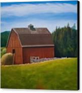 Whidbey Island Barn Canvas Print