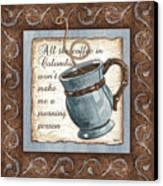Whimsical Coffee 1 Canvas Print by Debbie DeWitt