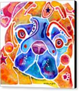 Whimsical Pug Dog Canvas Print