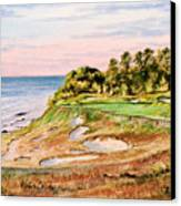 Whistling Straits Golf Course 17th Hole Canvas Print by Bill Holkham