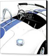 White Ac Cobra Canvas Print by David Kyte