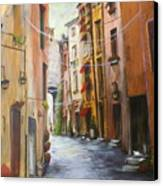 White Cat Lane Canvas Print by Jan Lowe