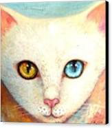 White Cat Canvas Print by Shijun Munns