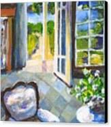White Chair Nantucket Canvas Print