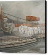 White Cinder Blocks Canvas Print