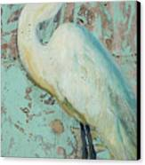 White Crane Canvas Print by Billie Colson