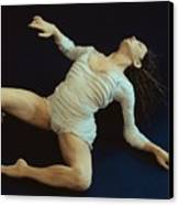 White Dancer Left View Canvas Print