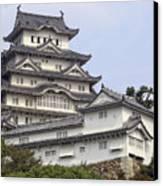 White Heron Castle - Himeji City Japan Canvas Print by Daniel Hagerman