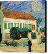 White House At Night Canvas Print by Vincent Van Gogh