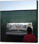 White House Fence Washington Dc Canvas Print