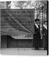 White House: Suffragettes Canvas Print by Granger